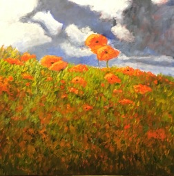 """'Summer's Day'. 32 x 32"""" Oil on box canvas with painted edge."""