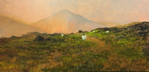 """'Away From it All'. 48 x 24"""" Oil on box canvas with painted edge."""