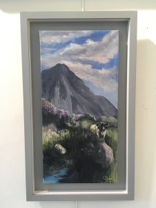 'Errigal's Keeper' by Claire Burns. Acrylic. £240.