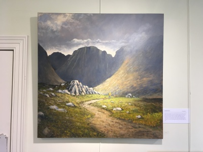 'Into the Poisoned Glen' by Deirdre Burns. Oil. £595.