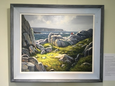 Private Collection: 'Arranmore Island from Cruit' by W.H.Burns. Oil.