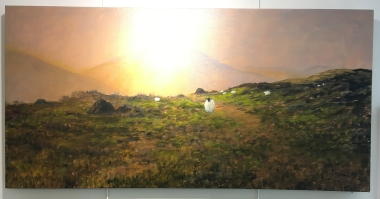 'Away from it all' by Deirdre Burns. Oil. £595.