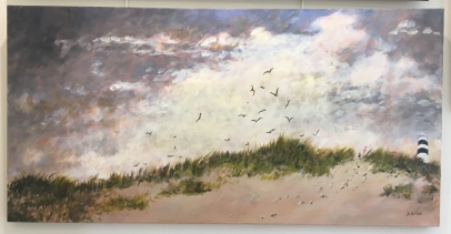 'Storm warning 1' by Deirdre Burns. Oil. £595.