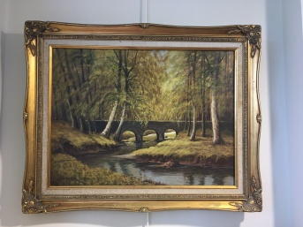 Private collection: 'Minnowburn' by W.H.Burns. Oil.