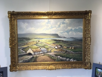 Private collection: 'Crohy Head from the Rosses' by W.H.Burns. Oil.