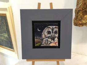 SOLD: 'Night watch' by Glynis R. Burns. Oil. £130.