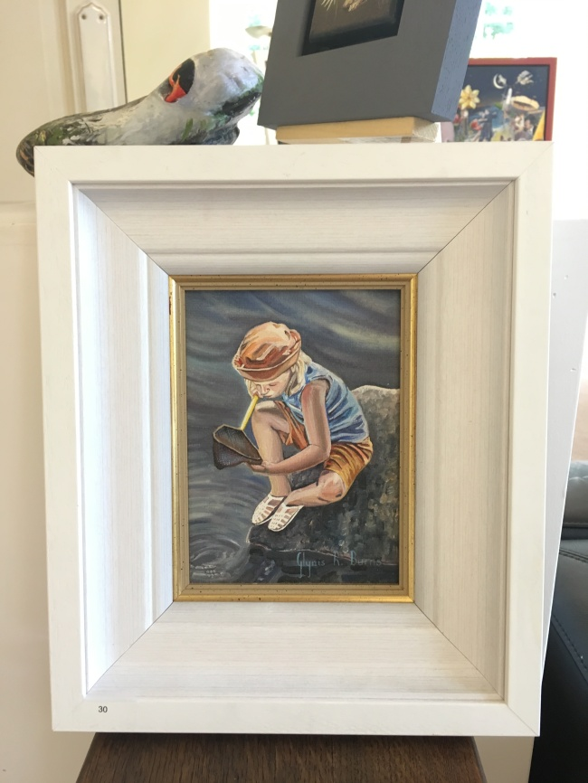 'Gone fishing' by Glynis R. Burns. Oil. £195.
