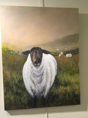 'Down from the hills' by Deirdre Burns. Oil. £495