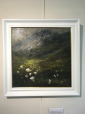 'Bog cotton field' by Alison Burns. Acrylic £550.