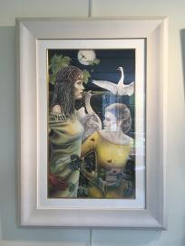 'Ladies of the Lough' by Glynis R. Burns. Oil. £1500.