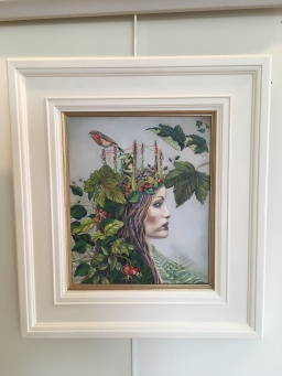 'Green Queen' by Glynis R Burns. Oil. £380.
