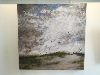 'Storm warning 2' by Deirdre Burns. Oil. £495.