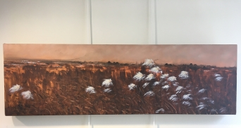 'Donegal Bog' by Deirdre Burns. Oil. £395.