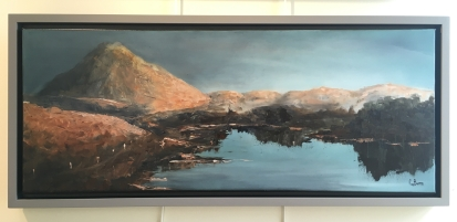 'The road to Errigal' by Claire Burns. Oil. £320.