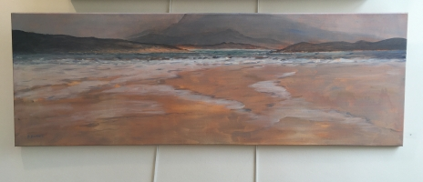 'Across to Muckish' by Deirdre Burns. Oil. £575.
