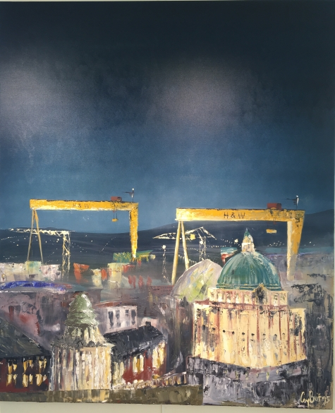 SOLD: 'Europa View' by Claire Burns. Oil. £360.