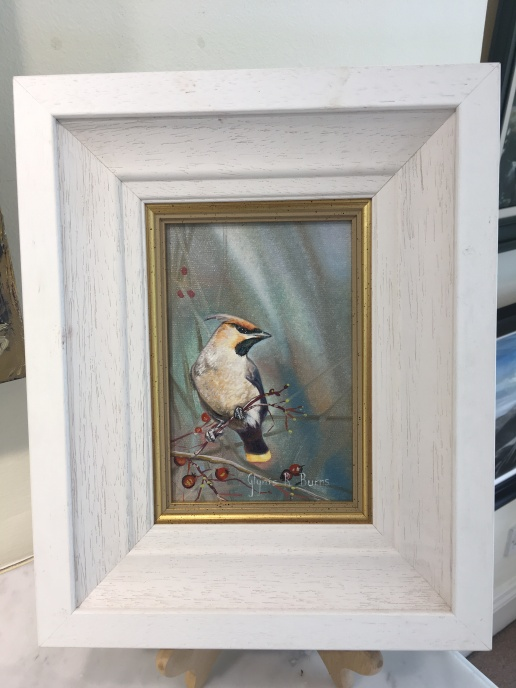'Jay' by Glynis R. Burns. Oil. £160.