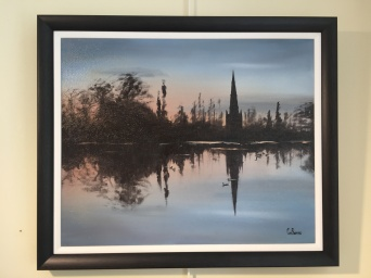 'St Malachy's Mirror' (Hillsborough Lake) by Claire Burns. Oil. £170.