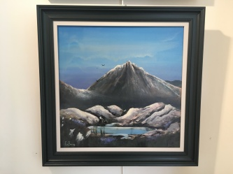 'Doan Summit' by Claire Burns. Acrylic. £210.