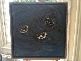 'Siblings three' by Glynis R. Burns. Oil. £495.