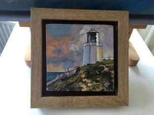 'Blackhead lighthouse' by Glynis R Burns. Oil. £140.
