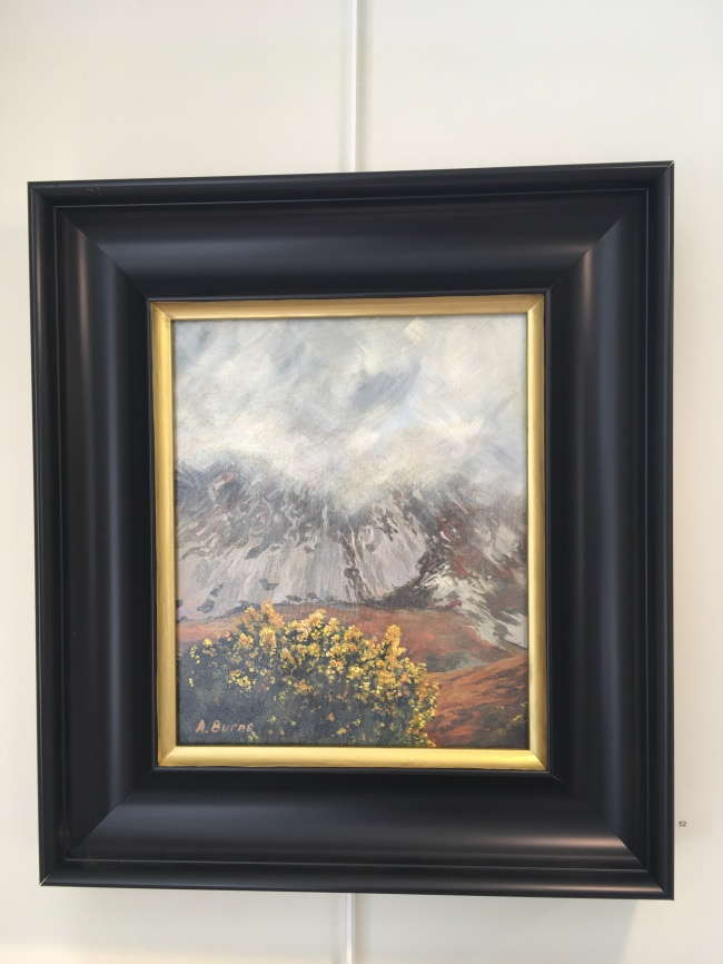 SOLD: 'Whinns at Errigal' by Alison Burns. Acrylic. £190.
