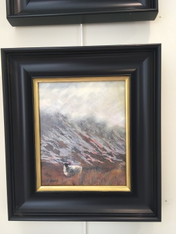 'Sheep at Muckish Gap' by Alison Burns. Acrylic. £190.