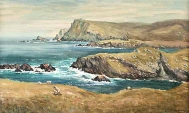 Sheep Grazing the Irish Coast