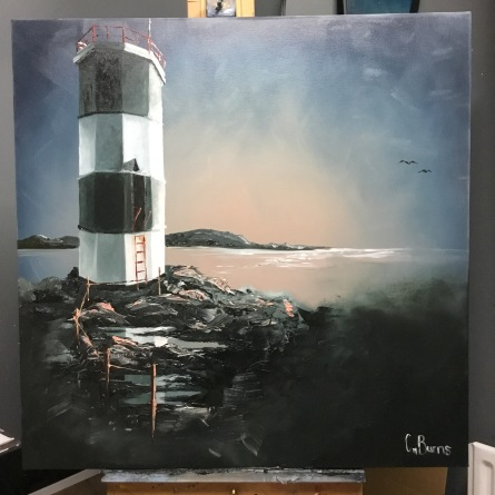 27. Rue Lighthouse, Rathlin Island by Claire Burns